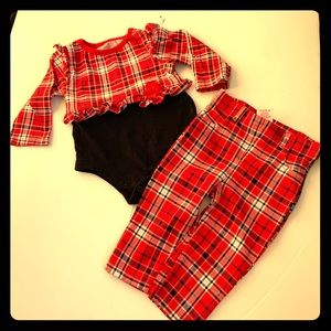 6-9 Months CUTEST RED 2-PIECE OUTFIT.(nwot)